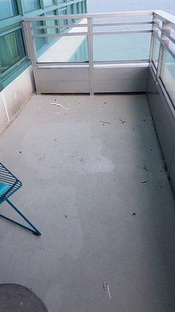 Dirty balcony!