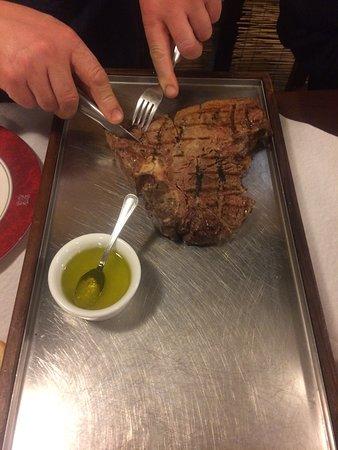 Bagnara di Romagna, Italia: La bistecca alla fiorentina.