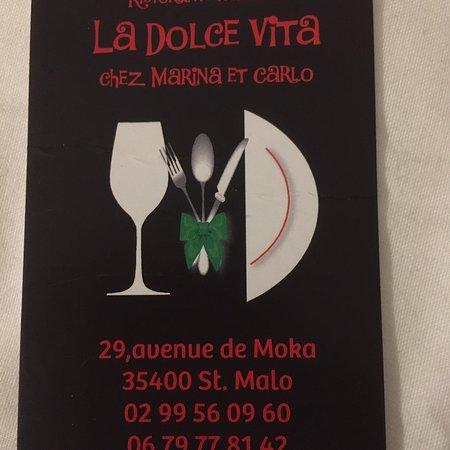 Restaurant la dolce vita dans saint malo avec cuisine - Cours de cuisine saint malo ...