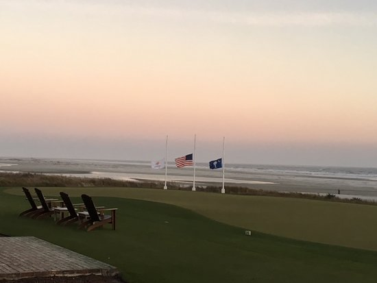 The Ryder Cup Bar at Ocean Course Clubhouse: Watching the ocean at dusk