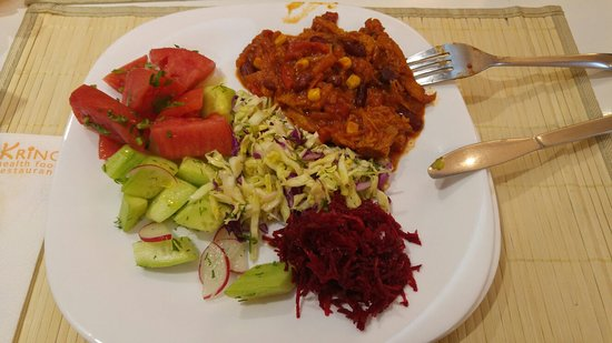Eccellente buffet vegetariano