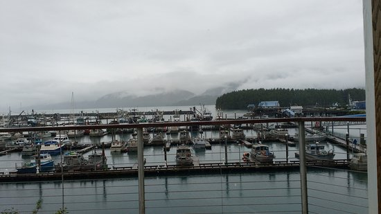 Cordova, AK: View out towards the boat harbor