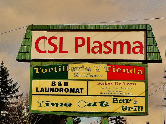 It is somewhere between CSL PLASMA and the Laundromat