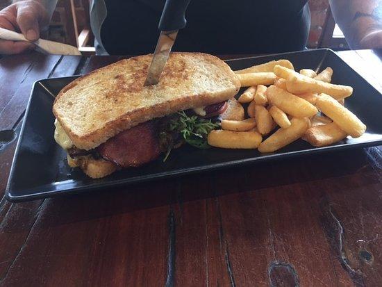 The Lower Deck Cafe: steak sandwich