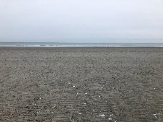Hull, Массачусетс: low tide at Nantasket Beach