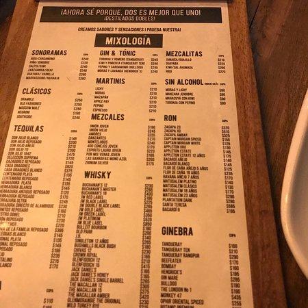 Sonora S Mexican Restaurant Menu