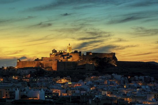 Gozo at Sunset with Ggantija Temples...