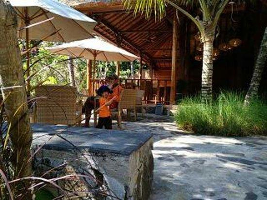 Tanjung, Indonesia: Restaurant di Lombok Elephant Park