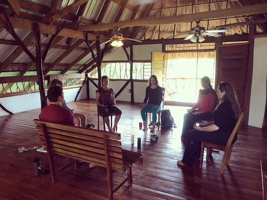 Cotton Tree Lodge: Morning meditation in the incredible yoga/meeting room!