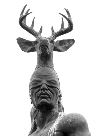 Cocorit, Mexico: B&W Photo of Head