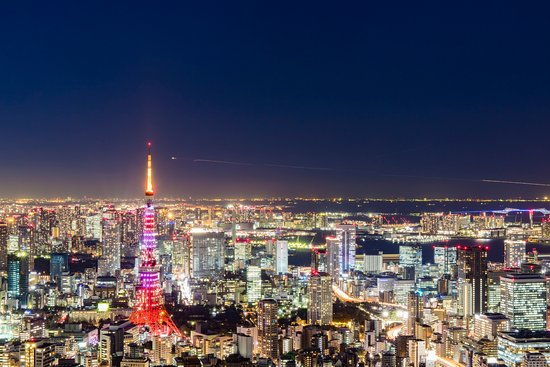 Tokyo City View Observation Deck (Roppongihills): 100秒の長時間露光も手すりでできました!