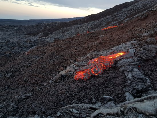 Pahoa, Hawái: lava!
