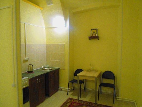 Nerekhta, Russland: Кухня двухместного номера