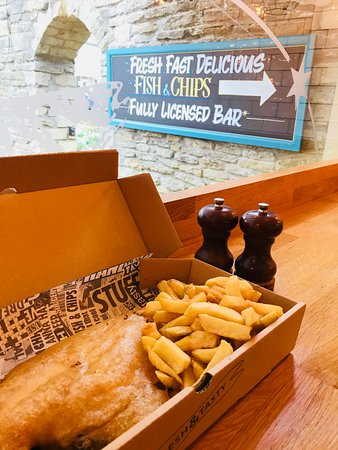 Lots of comfy seating to sit in and enjoy a classic fish and chips!
