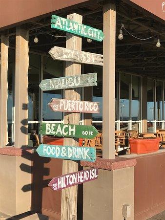 Hampton Inn Virginia Beach Oceanfront North Fun Sign Just Outside The Restaurant