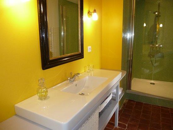 Saint-Menoux, ฝรั่งเศส: salle de bain Montespan