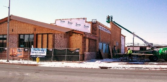 Harwood Heights, IL: corral gone... now being made-over for new Culver's. (today is 2/27/18)