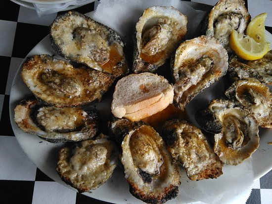 Grilled oysters are perfect!