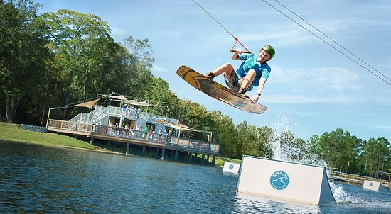 North Myrtle Beach, SC: Visit Shark Wake Park, an exhilarating cable wakeboard experience built for all skill levels.