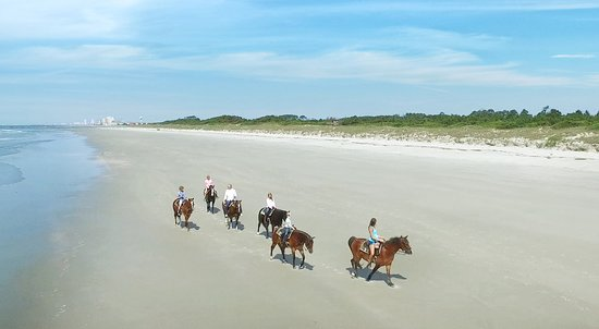 Get the fairytale and romantic experience of horseback riding at North Myrtle Beach.