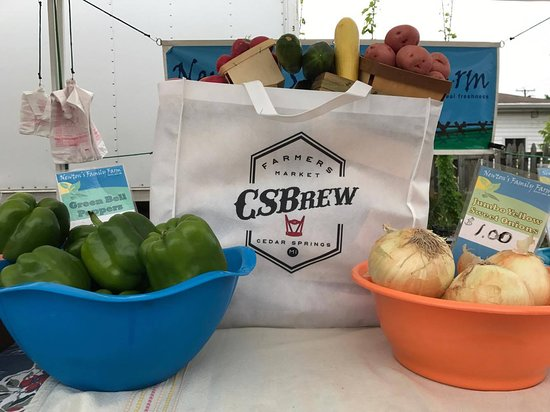 CSBrew Farmers Market in Cedar Springs, Michigan