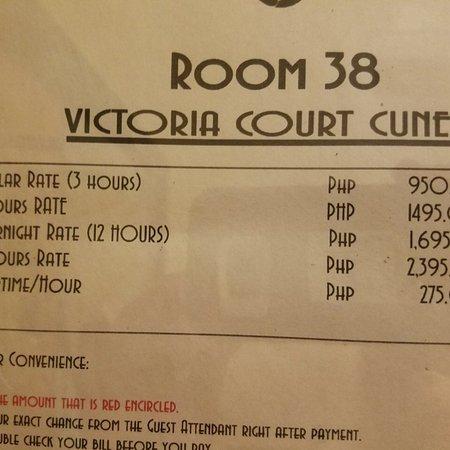 Victoria Court Room Rates