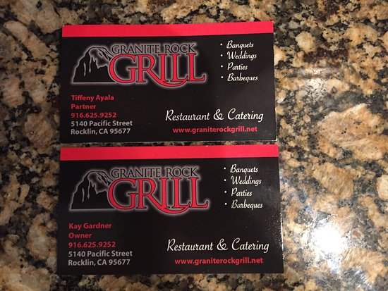 Granite Rock Grill: Found these by the cash register
