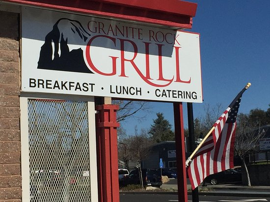 Granite Rock Grill: Look for this sign