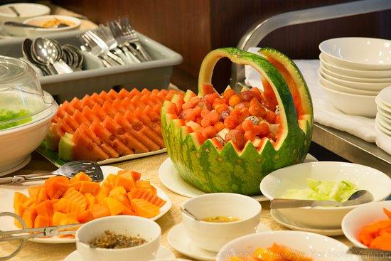Buffet Breakfast at City Hotel Yangon