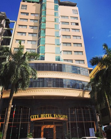 """Front view of City Hotel Yangon"""