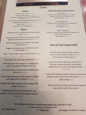 Cheadle, UK: Our menus
