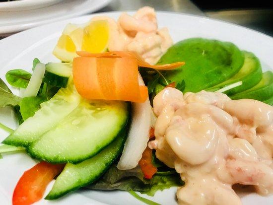 Chipping Ongar, UK: Prawn & Avocado Salad Starter