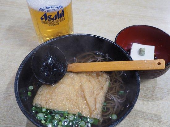 Maruman: soba noodles, goma dofu, and draft beer
