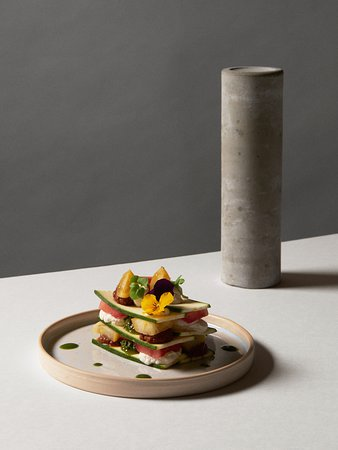 Essence Cuisine: Raw heirloom tomato lasagne