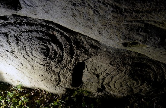 County Kilkenny, Ireland: Knockroe Passage Tomb.  Stone carving from 5,000 years ago