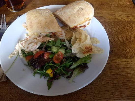 Threlkeld, UK: hot chicken ciabatta