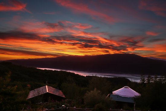 Sunset over West Coast Trail at Soule Creek Lodge