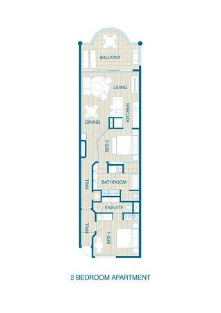 Studio Apartment Floor Plan - Picture