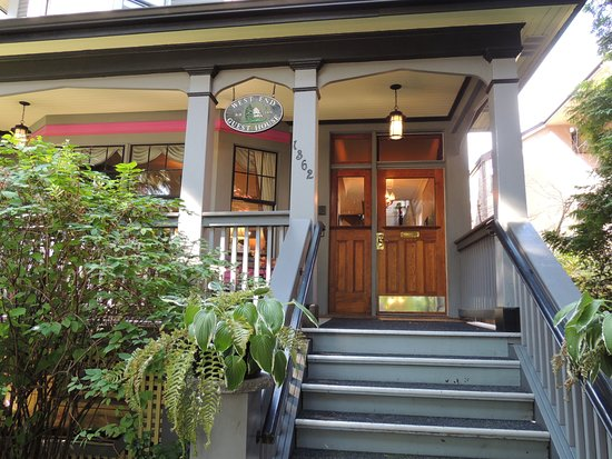 The front entrance to West End Guest House