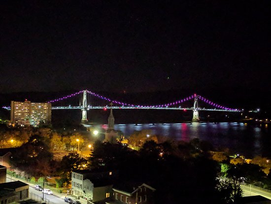 Walkway Over the Hudson State Historic Park: View from the walkway at night