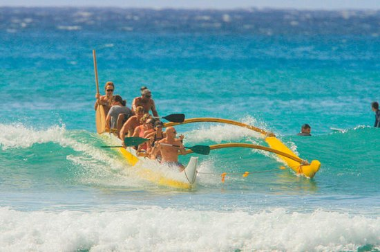 Outrigger Canoe Ride and Surfing...