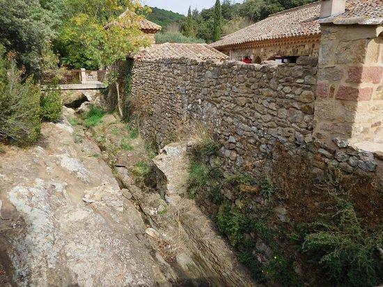 Abbaye de Fontfroide: outside wall