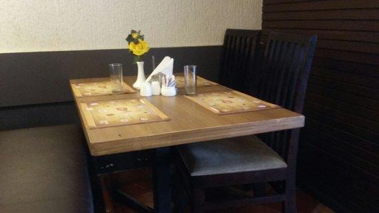Ayush Veg: 4 Seat table in ground floor