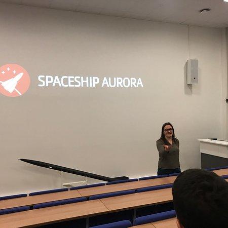 Spaceship Aurora - visitor center at Andoya Space Center: Лучшее времяпровождение если плохая погода! Музей понравился, очень интересный фильм о северном