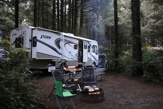Camping in Cape Blanco State Park - Picture of Cape Blanco State ...