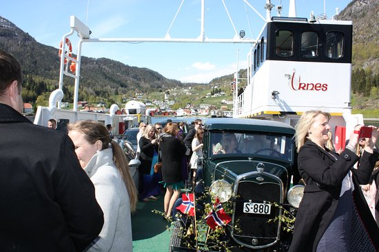 Solvorn, Norway: Urnes Stave church is very popular for weddings. And the crossing with the Urnesferry of course!