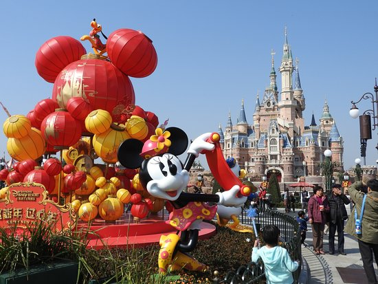 shanghai disneyland chinese new year theme