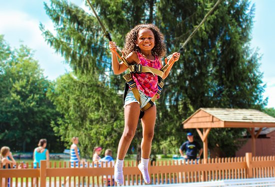 Rocking Horse Ranch Resort : Soar 25 feet in the air on our Super Bungee Jumpers