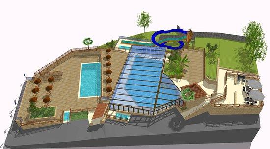 Proissans, Francja: Nouveau parc aquatique (2018) avec toboggans et piscine couverte chauffée