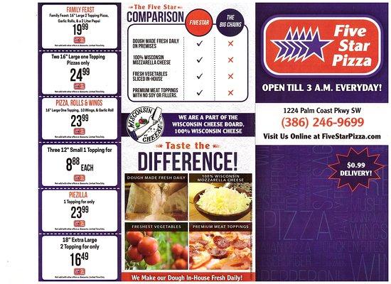 palm coast pizza deals